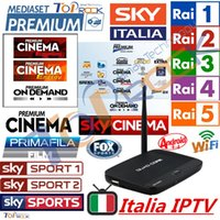 Wholesale italia IPTV Box Quad Core Android TV Box Account for Italian Channels Mediaset Premium Primafila Sky Sport Italy UK DE SKY Canal