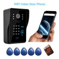 Wholesale Wireless WiFi Video Door Phone Intercome IR Night Vision Video Record Home Security Rainproof S432