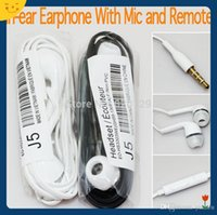 Wholesale In Ear Earphone Handsfree Headphones Headset with Remote Volume Control and MIC for Samsung Galaxy S5 S4 i9500 S3 i9300 Note2 Note3