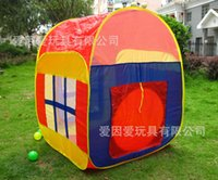 Cheap New Foldable Baby Infant Kid Child Toddler Boy Girl Outdoor Indoor Pop up House Play Tent Playhouse Castle Canopy Beach Garden Grassland Toy