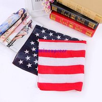 Wholesale Hot sale USA United States american flag US bandana Head Wrap Scarf Neck Warmer Double Sided Print