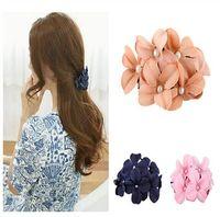 banana clip art - Cloth Art Flower Hair Pin Claw Handmade Women Girl Flower Banana Barrette Hair Clip Hairpin Grabbing Twist Top Clip Headwear