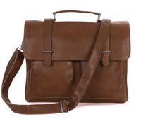 Wholesale crazy horse Men s fashion vintage genuine leather handbags mens leather messenger bag briefcase multifuctional TW7100B