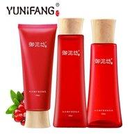 anti oxidant cream - YUNIFANG Pomegranate Anti oxidant Trio Set Cleanser Toner Cream anti aging anti oxidant brightening anti wrinkle