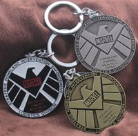 Stainless Steel agent steel - NEW Hot Cartoon Game movie Key Car keychian Marvel Agents of SHIELD Alloy keychain wedding favors keychain cc126