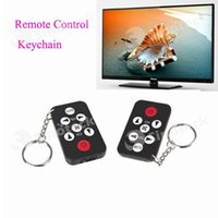 Wholesale Remote Control Keychain Mini Keys Ring Universal IR Infrared For TV Set Black Free DHL Factory Direct