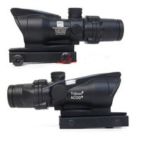 riflescopes red dot - Trijicon ACOG Style X32 Optical Red Dot Tactical Scope Reflective Coating Weaver Riflescopes