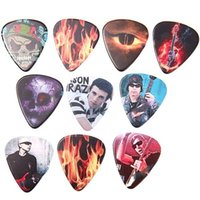 Wholesale Hot New mm Durable Triangular Celluloid Pick Guitar Pick Guitar Plectrum Pattern Assorted FTY