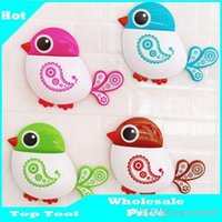 Wholesale 1pc Popular Funny Hotsale Lovely Cute Cartoon Rose Red Green Blue Brown Bird Suction Tooth Brush Holder A2