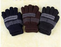 Wholesale Hot K2036 Men s autumn and winter thick warm double gloves knitted Magic
