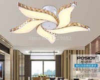 Wholesale 2014 new modern led ceiling fan design light crystal light with Acrylic lampshade for bedroom and dinning room lustre home