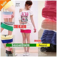 Wholesale FOB Womens Cheap Cotton Mini Skirts Multi Color Short Dresses Color SU F