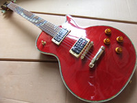 Wholesale New Arrival Electric Guitar Mahogany Body with cobra inlay on fretboard in red