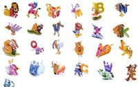 abc early childhood - D ABC alphabet puzzle Early childhood development toy baby DIY toys creative toy Educational toy D paper model