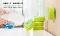 Wholesale Sided Scouring Pad Decontamination Sponge Dishcloth Kitchen Cleaning pack mix order usd