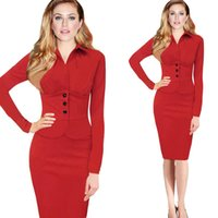 Red Dress Suit Ladies