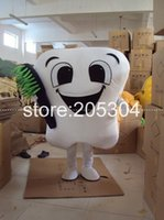 dental costumes - New tooth mascot costume party costumes fancy dental care character mascot dress amusement park outfit