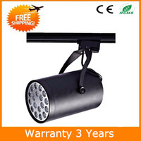Wholesale 18W LED Track Light Dimmable Spotlight Spot Bulb Lighting White and Black Housing AC85 V Years Warranty CE RoHS