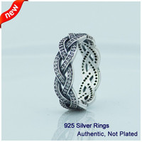 Wholesale pandora Rings Silver Twist of Fate with Clear Cz Ring sterling silver silver rings fashion rings CE596