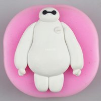 Wholesale freeshipping Baymax Fondant Cake Decoration mould Creative cookies silicone mold chocolate mold