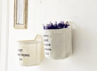 Wholesale Desktop organizer flower pots planters home decoration fabric baskets design simple home decor pen holders home storage box wall hanging box