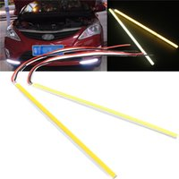 Cheap Hot Sale 5W COB 60 LED Chip Car Auto Driving DRL Daytime Running Light Lamp White 20cm Bar Strip for DIY DC12V order<$18no track
