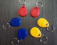 Wholesale 10 Access Control KHZ RFID ID Writable Readable keychain keyfobs Tags CHI S378