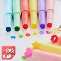 Wholesale 2015 new South Korea creative stationery cute candy colored jelly seal highlighter marker pen color