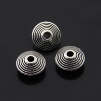alloy category - Snowflake Spacer Beads Category Oblate Beads Spiral Retro Silver Alloy Spacer Loose Accessories X10mm