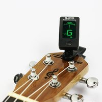 Wholesale Universal Chromatic Clip On LCD Display Guitar Tuner Digital Tuner For Acoustic Electric Guitar Bass Violin Ukulele
