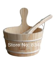 barrel sauna - High quality Wooden barrel and spoon for sauna water the stone of sauna heater sauna heater