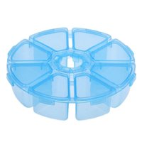 small plastic boxes - Best Deal New Round Grids Clear Jewelry Storage Assortment Box Plastic Case Convenience Store Small Items Transparent Box PC