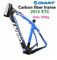 track bike frames - GIANT XTC carbon fiber Bicycle Frame mountain bike Super light mtb wilier for frame inch track road