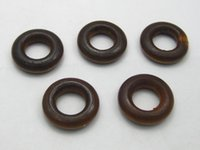 Wholesale 100 Brown Round Ring Wood Beads mm Wooden