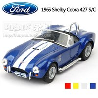 baby cobra - High Simulation Exquisite Baby Toys KiNSMART Car Styling Ford Shelby Cobra Model Alloy Sports Car Model Excellent Gifts
