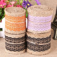 Wholesale Lace Burlap Ribbon cmx10m Natural Gift Wrapping Rustic Wedding party Decorations Hessian Roll