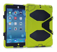 Wholesale Military Extreme Heavy Duty WATERPROOF SHOCKPROOF DEFENDER CASE Cover For iPad Air Mini STAND Holder Hybrid Cases Q3