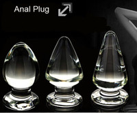 Wholesale Huge Glass Anal Plug Butt Jewelry Insert For Male Female Stopper Prostate G Spot Stopper S M L Sizes