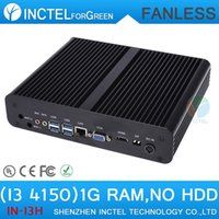 Wholesale 2015 new arrival Fanless Mini pc i3 with Intel Core i3 Ghz HDMI VGA dual display G RAM ONLY Windows Linux