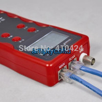 Wholesale NOYAFA NF Network LAN Phone Tester Wire Tracker USB Coaxial Cable Tester Red order lt no track