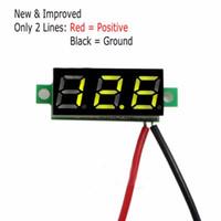 Wholesale Hot Selling New Arrival Car Motorcycle DC V Wire LED Display Digital Voltage Voltmeter Panel