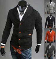 men knitted sweaters - Men Casual Button Slim Fit V neck Knitted Cardigan Pullover Jumper Sweater Tops