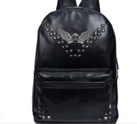 Wholesale hot sales cool rivet eagle backpack leather school bag for students colors to choose drop shipping XC404