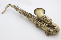 Wholesale French Selmer B Flat Tenor Saxophone BbTop Professional Musical Instrument Saxe Antique Copper Simulation Wire drawing Process Sax