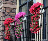 air condition ducts - 2014 High simulation flower vine violet plastic flowers fake flower artificial flowers cane leaves air conditioning duct wall decoration