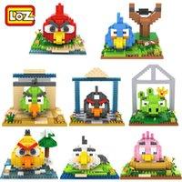 plastic model kits - 8 Birds Cartoon Building Blocks LOZ Minifigure Nanoblock Action Figure Brick Miniature Model Kits Children Educational Block