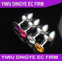 stainless steel butt plug - Stainless Steel Crystal JewelryAanl Butt Plug Adult Anal Sex Toys for Men Anal Sex Products
