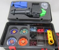 Wholesale hot sell beyblade set more that tips beyblades handles launchers beyblade box