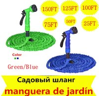 garden hose - 100ft Expandable Magic flexible Watering Hose Water for Garden Car Pipe Plastic Hoses to Watering with Spray Gun Green