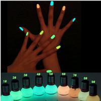 neon paint - Non toxic Neon Fluorescent Luminous oil matte nail polish candy colors transparent Nail Varnish Lacquer Paint Nail Art DHL